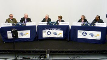 Programme image from Any Questions?: Diane Abbott MP, Eric Pickles MP, Simon Heffer, Baroness Jenny Jones
