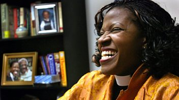 Programme image from Woman's Hour: Mpho Tutu; Misogynies; Gemma Collins
