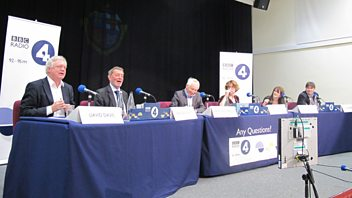 Programme image from Any Questions?: Lynne Featherstone MP, David Davis MP, David Blunkett MP, Simon Armitage