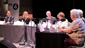 Programme image from Any Questions?: Sir Robert Francis QC, Minette Batters, Val McDermid, John Cridland