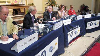 Programme image from Any Questions?: Diane Abbott MP, Dan Hannan MEP, Agnes Poirier, Duke of Wellington