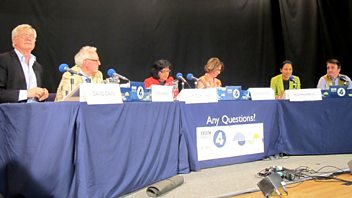Programme image from Any Questions?: Rushanara Ali MP, David Davis MP, Lord Hennessy, Tommy Sheppard MP