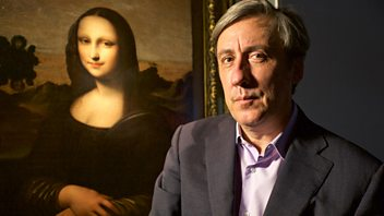 Programme image from Front Row: Andrew Graham-Dixon on the Mona Lisa, David Bowie's Lazarus and Andrew Lloyd Webber's School of Rock open in New York