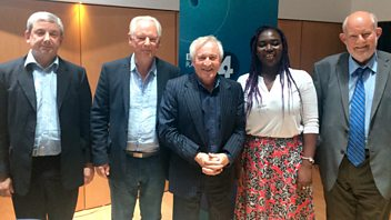 Programme image from Any Questions?: Charles Clarke, Paul Goodman, Lord Maude, Barbara Ntumy
