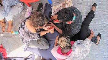 Programme image from Woman's Hour: 'Beauty Day' gives respite to women in the Calais 'Jungle'
