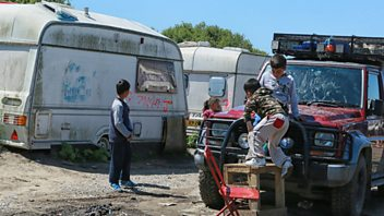 Programme image from Woman's Hour: Child migrant refugees living in the Jungle camps in Calais.