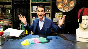 Programme image from Horizon: Episode 15: Jimmy Carr and the Science of Laughter