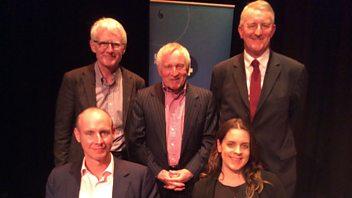 Programme image from Any Questions?: Hilary Benn MP, Dan Hannan MEP, Norman Lamb MP, Allie Renison