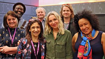 Programme image from Loose Ends: Kathryn Hunter, Le Gateau Chocolat, Vika Bull, Kiri Pritchard-McClean, Kevin Morby, Nikki Bedi, Clive Anderson