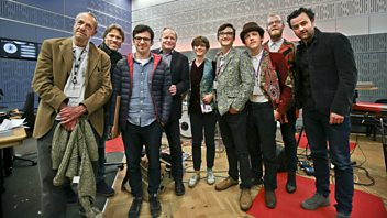 Programme image from Loose Ends: John Bishop, Simon Bird, Daniel Mays, Dawn O'Porter, Antonio Zambujo, Maia, Arthur Smith, Clive Anderson
