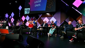 Programme image from Loose Ends: Alan Johnson, Zinnie Harris, Ursula Martinez, Twayna Mayne, Pictish Trail, Kathryn Joseph, Arthur Smith, Clive Anderson