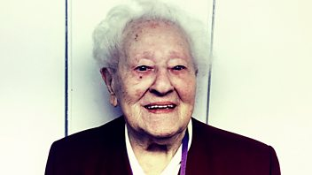 Programme image from Woman's Hour: 105-year-old Diana Gould, Men's behaviour, Katy Tur, Ibibio Sound Machine