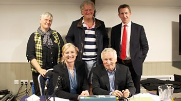 Programme image from Any Questions?: Dan Jarvis MP, Loveday Jenkin, Tim Martin, Sarah Wollaston MP