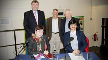 Programme image from Any Questions?: Graham Brady MP, Thangam Debbonaire MP, Claire Fox, Matthew Parris