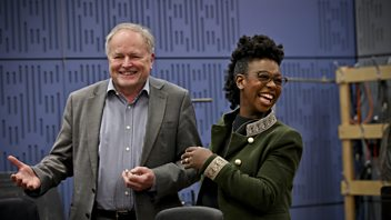 Programme image from Loose Ends: Don McLean, Amanda Abbington, In-Sook Chappell, The Magic Numbers, YolanDa Brown, Clive Anderson