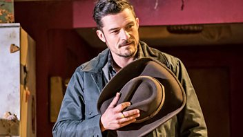 Programme image from Front Row: Orlando Bloom, Grief as muse, Antony Gormley, Novello Award-winning rapper Dave.