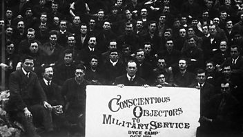 Programme image from The History Hour: WW1: Britain's Conscientious Objectors