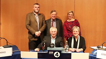 Programme image from Any Questions?: Ken Clarke MP, Stella Creasy MP, Tim Montgomerie, Gisela Stuart