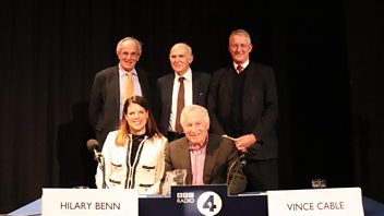 Programme image from Any Questions?: Hilary Benn MP,  Peter Bone MP, Sir Vince Cable MP, Caroline Nokes MP