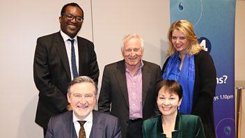 Programme image from Any Questions?: Katherine Bennett, Barry Gardiner, Kwasi Kwarteng MP, Caroline Lucas MP