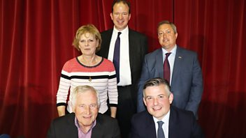 Programme image from Any Questions?: Jon Ashworth MP, Jesse Norman MP,  Anna Soubry MP, James Wells.