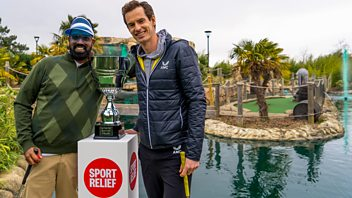 Programme image from Sport Relief: A Round with Rom and Andy Murray