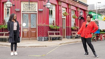 Programme image from EastEnders: Secrets from the Square: Denise and Kim