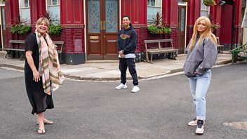 Programme image from EastEnders: Secrets from the Square: Tiffany, Keegan and Karen