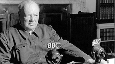 Winston Churchill's first wartime broadcast - History of the BBC