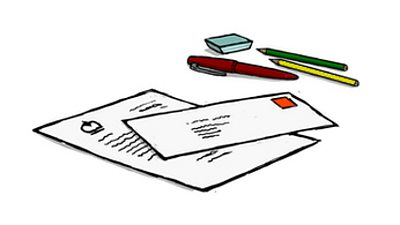 An illustration of several envelopes.