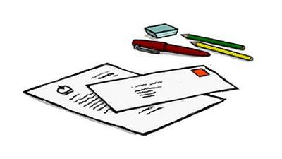 An illustration of several envelopes.