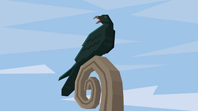 A raven perched on the prow of a Viking longship helped the navigators to find new land.