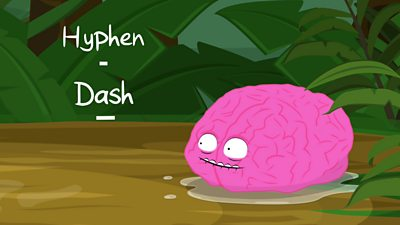 It looks like Brain might get eaten by a crocodile! Can punctuation save him.