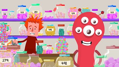 Jerry and Albert are finding out exactly how many sweets are in each jar.