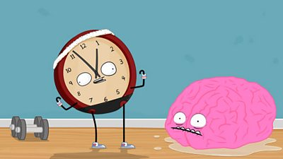 Analogue clock and brain