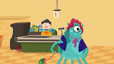 Shop assistant and alien
