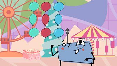 An array of balloons