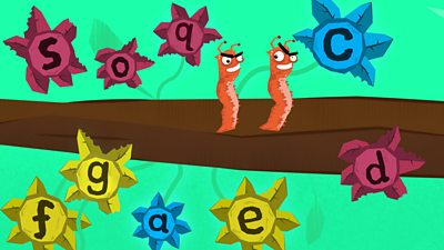 Curly caterpillar letters