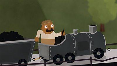 A man in a train