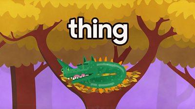 lizard monster in a tree sleeping