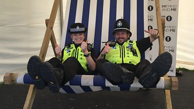 The real celebs of Radio 1's Big Weekend? The police!