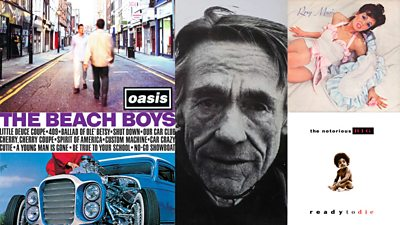 Who are the random people on these famous album covers?