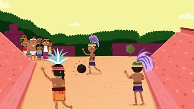Mayans playing a game