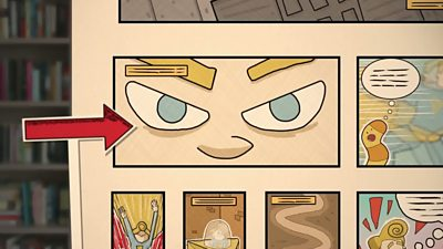 An example of an extreme close up from How to create a comic