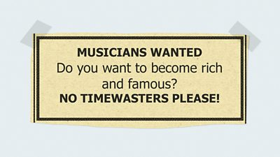 Quiz: Can you match the band to the classified ads that brought them together?