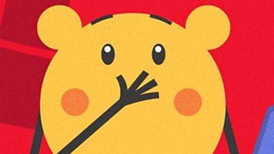 Shocked cartoon character
