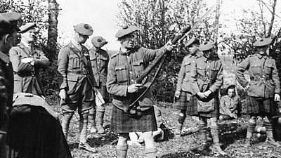 Scottish soldiers taking a break on the Western Front in World War One