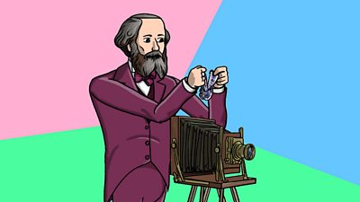 James Clerk Maxwell holding image - multicolour