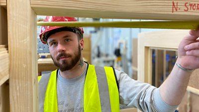 Nick Storrar loves his work as a joiner.
