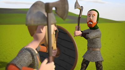 The Vikings were ferocious fighters who used weapons and tactics to their advantage.